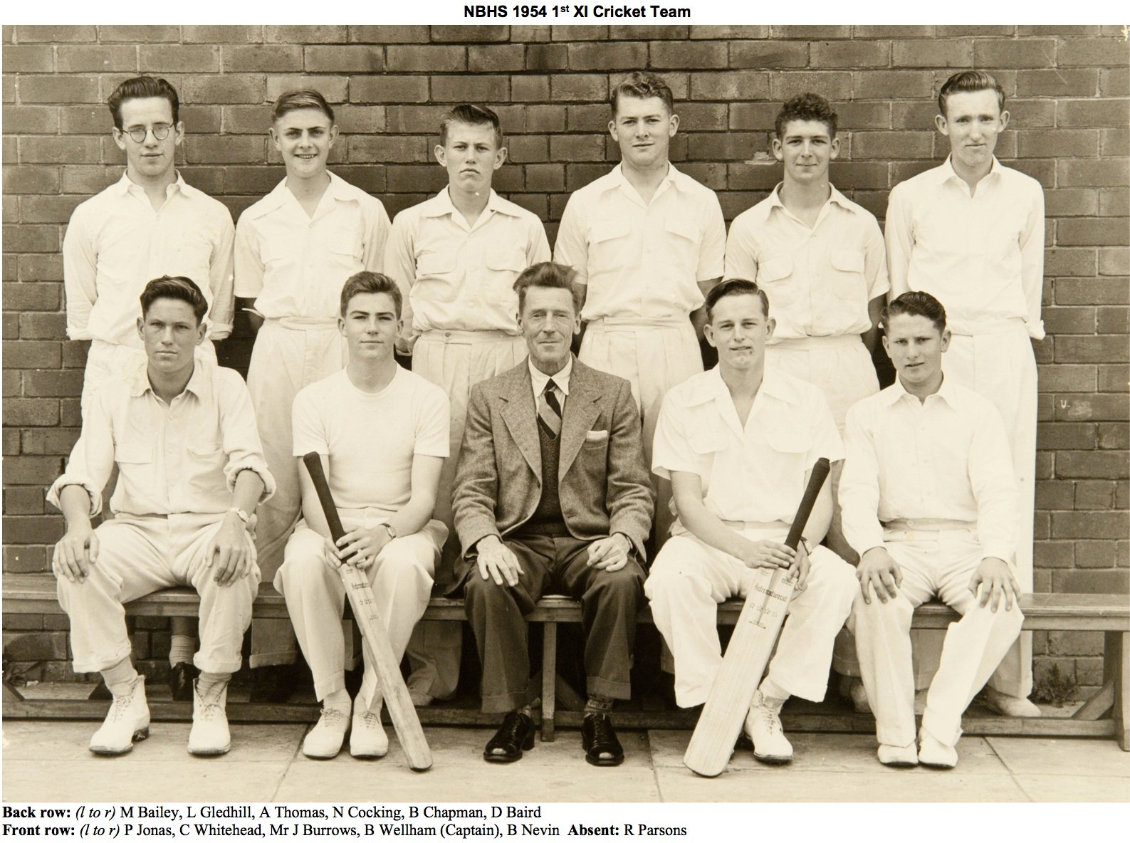 1954 1st Grade Cricket