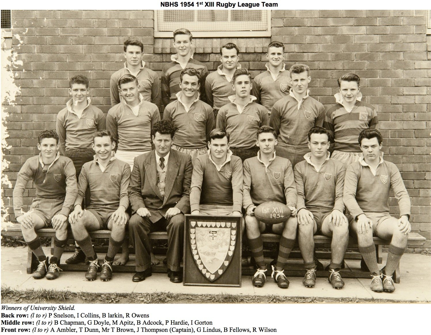 1954 1st Grade Rugby League